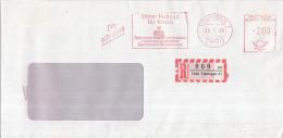 Duitsland - Recommandé/Registered Letter/Einschreiben - 7400 Tübingen 21 - 009 Se - BRD