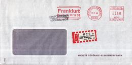 Duitsland - Recommandé/Registered Letter/Einschreiben - 6000 Frankfurt Am Main 17 - 029 Fh - [7] West-Duitsland