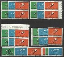 1962 Italia Italy Repubblica CICLISMO   CYCLING 10 Serie Di 3v. MNH** - Ciclismo