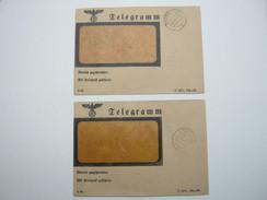 2 Telegramme  1938, Je Mit Aufgabestempel Bremen - Allemagne