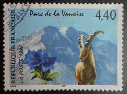 2998 France 1996 Oblitéré Parc De La Vanoise  Bouquetin Et Gentiane Bleue - France