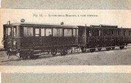 """B44684 Automotrice Berliet """"  Coupure De Journal Collée Sur Carton"""" - Railway"""