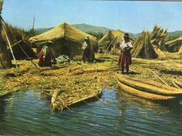 """B44764 Islas Flotantes De Los """" Uros"""" En El Lago Titicaca - Peru"""