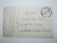 1916 , SALZHAUSEN , Klarer KOS  Stempel Auf Karte - Brieven En Documenten
