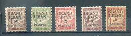 LIBAN 199 - YT Taxe 1 à 5 *  - CC - Grand Liban (1924-1945)