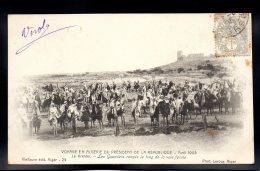 ALGERIE - SOUVENIR DU VOYAGE PRESIDENTIEL EN ALGERIE - Avril 1903 - Le Kreïder - Les Goumiers Rangés Le Long De La Voie - Other