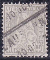 No 42 Oblitéré Par Le Cachet Messagerie De Lausanne - Dents Courtes à L'angle Inférieur Gauche - Cote : 220.- - Oblitérés