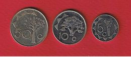 Namibie  --  Lot De 3 Monnaies - Namibia