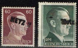 Allemagne - 1941 - Yvert & Tellier N° 721 Et 723, Surchargés Metz, Préoblitérés Utilisés ? - Alemania