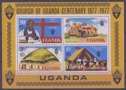 UGANDA :1977: Y.BF6 Dentelé/neuf/MNH : ## CHURCH Of UGANDA – Centenary : 1877-1977 ## : RELIGION, - Ouganda (1962-...)