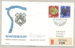 Schweiz - 1962 - 20 & 50c ProPatria On R-Swissair Cover From Geneve To Beograd - Pro Patria