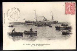 """ALGERIE - ALGER - Départ Du Courrier Transatlantique Le """" Duc De Bragance """" - Algiers"""