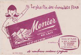 Vieux  Papier :    Buvard  : Chocolat  Menier - Levensmiddelen