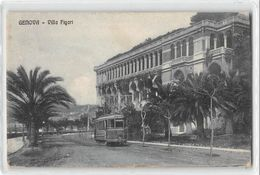 "07217 ""GENOVA - VILLA FIGARI "" TRAMWAY. CART. ORIG. SPED. 1918 - TIMBRO POST. MILIT. FRANCESE I W.W. - Genova"