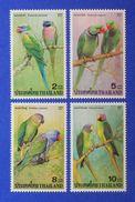 Thailand 2001 Parrots Set Of 4 MNH - Thaïlande