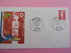 FRANCE FDC 1989 YVERT 2614 MARIANNE NICE - 1980-1989