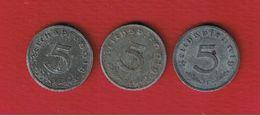 Allemagne  --  3 X 5 Reichspfennig --  1941 D - 1941 F --1943 A - [ 4] 1933-1945 : Third Reich