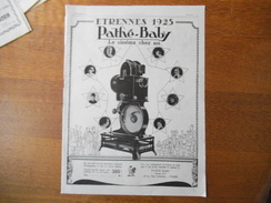 PATHE-BABY LE CINEMA CHEZ SOI ETRENNES 1925 L'ILLUSTRATION 1924 - Pubblicitari