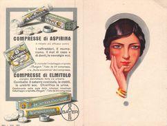 "07222 ""BAYER - COMPRESSE DI ASPIRINA - COMPRESSE DI ELMITOLO"" CALENDARIETTO. PUBBLIC. ORIG. 1929 - Calendari"