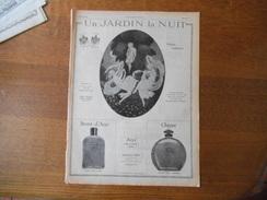 UN JARDIN LA NUIT PARFUM ENCHANTEUR, SECRET D'ARYS,CHYPRE,ARYS 3 RUE DE LA PAIX PARIS  L'ILLUSTRATION 1924 - Publicités