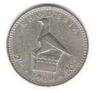 Rodesia - Rhodesia 20 Cents 1964 - Rhodesia