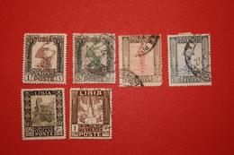 LIBIA  -  PITTORICA SENZA FILIGRANA - TIRATURA ROMA - SERIETTA  - D. 14 -1924-1929. -  USATO - Libya