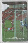 JERSEY 1997 FOOTBALL ISLAND GAMES TEAM USED PHONE CARD - Sport