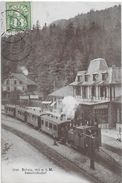 BRÜNIG STATION → Stehender Dampfzug Beim Buffet Anno 1907 ►sehr Seltene Perspektive ►RRR◄ - BE Bern