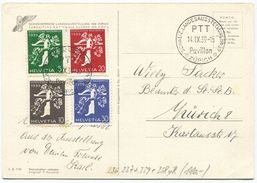 1724 -   Seltene AK Der Landi 1939 Mit Satz Italienisch Inkl. 20 Rp. Rollenmarke - Lettres & Documents