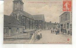 Saint Germain De Coulamer, Rue Et Eglise, Place - France