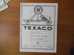 TEXACO THE TEXAS COMPANY U.S.A.PETROLEUM PRODUCTS  L'ILLUSTRATION 1924 - Pubblicitari