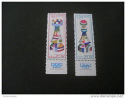 K9996- Set With Tabs  MNH Israel 1976- SC.609-610-   Chess Olympiade Haifa - Schaken