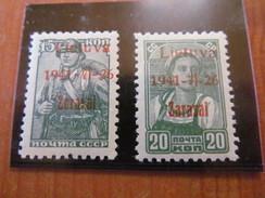 E1149) Litauen Lokal* Ungebraucht, Zarasai Nr 3+4 B Type III,Mi 85 - Occupation 1938-45