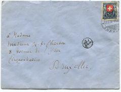 1725 - Pro Juventute 30 Rp. Nach BELGIEN Gestempelt BAHNPOST AMBULANT 27.II.26 - Pro Juventute