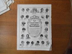"""SAVON CADUM L'ART ET LA BEAUTE RENDENT HOMMAGE AU SAVON CADUM, LA """"PIANOLA"""" PIANO  L'ILLUSTRATION 1924 - Pubblicitari"""