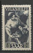 """Germany Saar Area 1949 Michel No.: 267 """"Volkshilfe"""" 8 Fr. Mint Never Hinged Xx - Unused Stamps"""