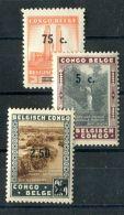 CONGO BELGE ( POSTE ) : Y&T N°  225/227   TIMBRES  NEUFS  AVEC  TRACE  DE  CHARNIERE , VOIR . - Congo Belge