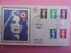 FRANCE FDC 1990 YVERT 2617/19 ET 2623/24 MARIANNE - 1990-1999