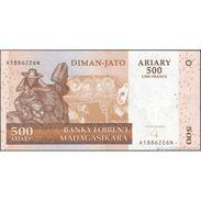 TWN - MADAGASCAR 88b - 500 Francs 2008 A XXXXXXX N UNC - Madagascar