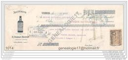 38 1662 VOIRON ISERE 1921 Antesite Des Ets N. PERROT Et BERTON Preparateur Inventeur ˆ NURDIN - Lettres De Change