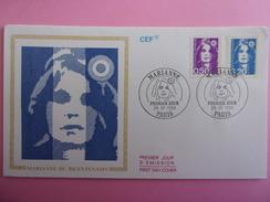 FRANCE FDC 1990 YVERT 2619 ET 2623  MARIANNE - 1990-1999