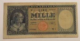 1000 Lire - 1947 Testina Serie Speciale W - [ 2] 1946-… : Républic