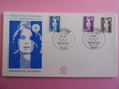 FRANCE FDC 1990 YVERT 2617, 2619  ET 2623 MARIANNE - 1990-1999