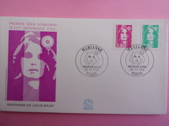 FRANCE FDC 1990 YVERT 2618 ET 2624 MARIANNE - 1990-1999
