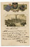 Gruss Aus Wien  Rathaus Litho Wolfrum Hauptmann Nurnberg  Embossed  P. Used 1900 - Autres