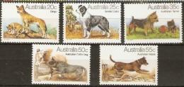 Australia  1980  SG 729 -33  Australian Dogs Unmounted Mint - 1980-89 Elizabeth II