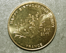 """Médaille Commémorative """"1100e Anniversaire De La Normandie""""  Happy Birthday Normandy - Casque Viking - Tourist"""
