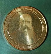 """Très Belle Médaille """"Rouen, Pays De L'Impressionnisme - Claude Monet"""" Portrait De Monet Gravé Au Laser - Normandie - Tourist"""