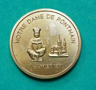"""Jeton Médaille Souvenir """"Notre-Dame De Pontmain - 17 Janvier 1871"""" Mayenne  - Pont-Main - Tourist"""