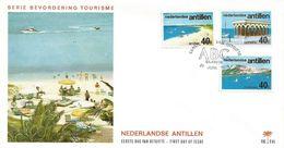 Netherlands Antilles 1976 Aruba Bonaire Curacao Tourism Mountain Beach FDC Cover - Vakantie & Toerisme